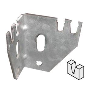 Wandblechaufhangung für Typ 10 Heizkörper mit Laschen