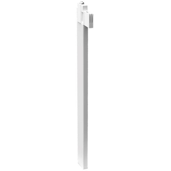 Stabilisierungsstange Weiß für Heizkörper mit Bauhöhe ab 500mm